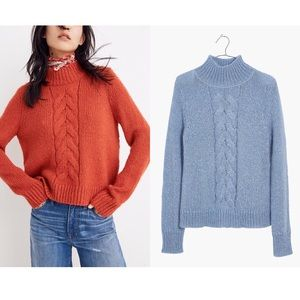 Madewell Blue Sz L Turtleneck Sweater EUC